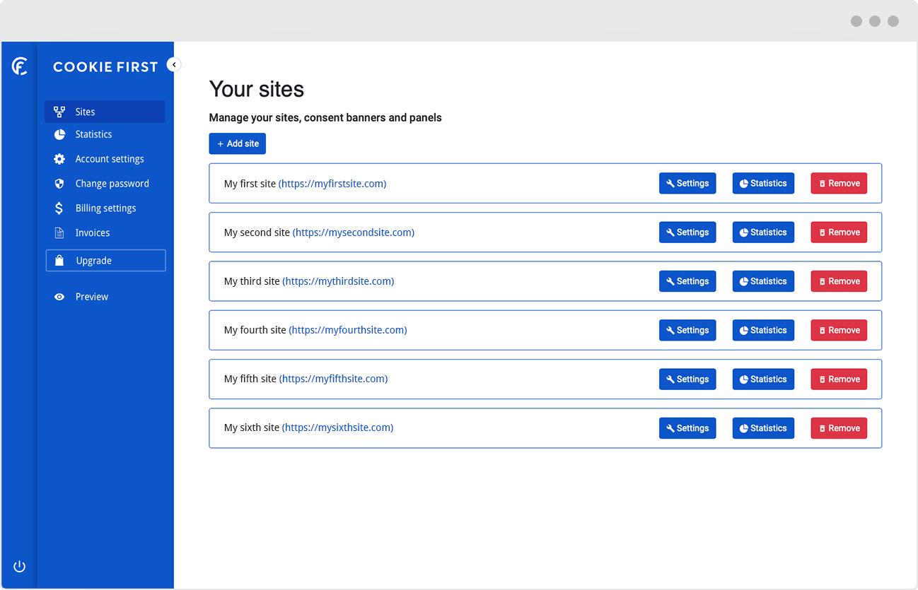 Consent Management Platform - Multiple domains management