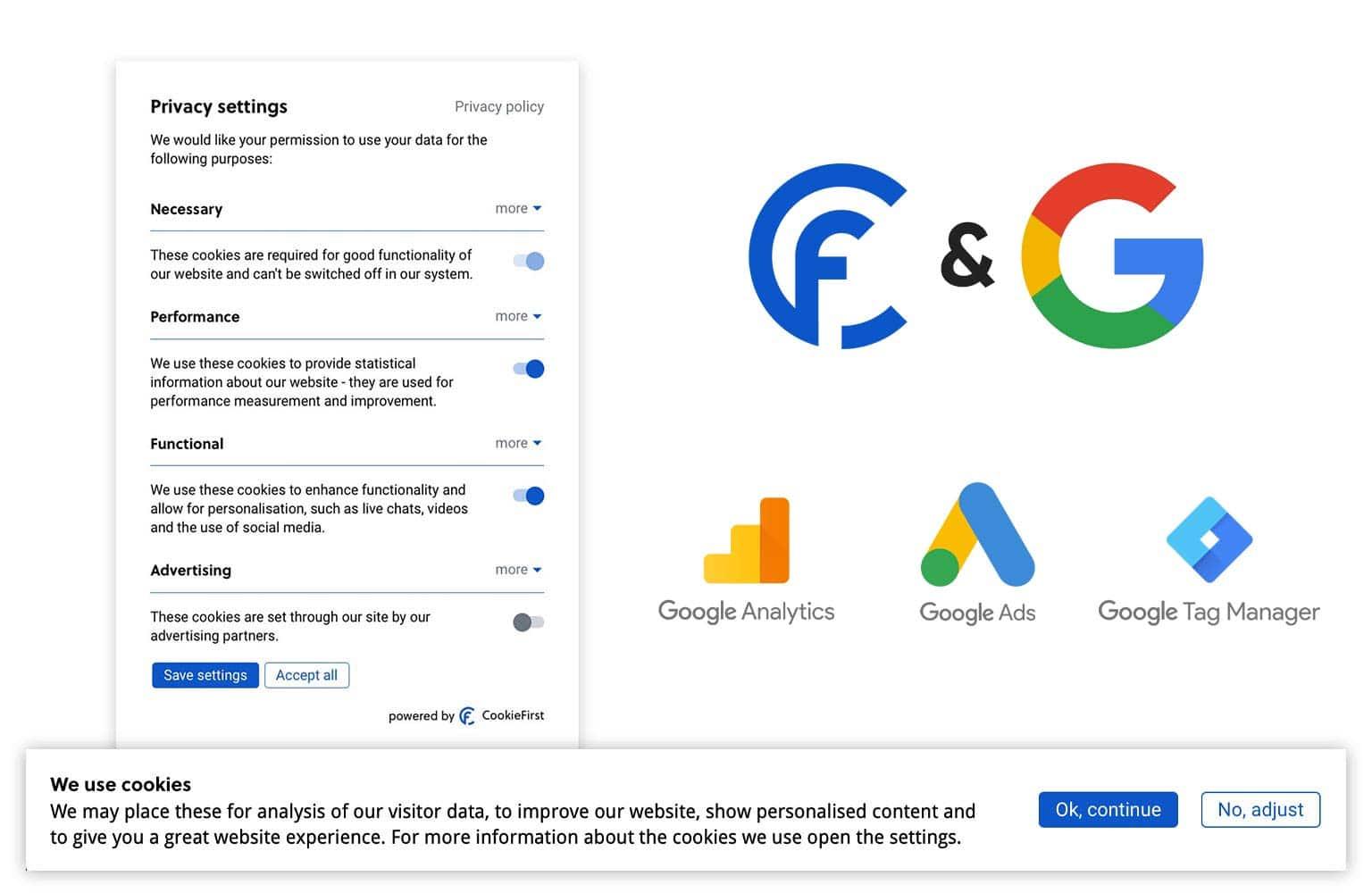 Google Consent Mode integreert met het CookieFirst CMP