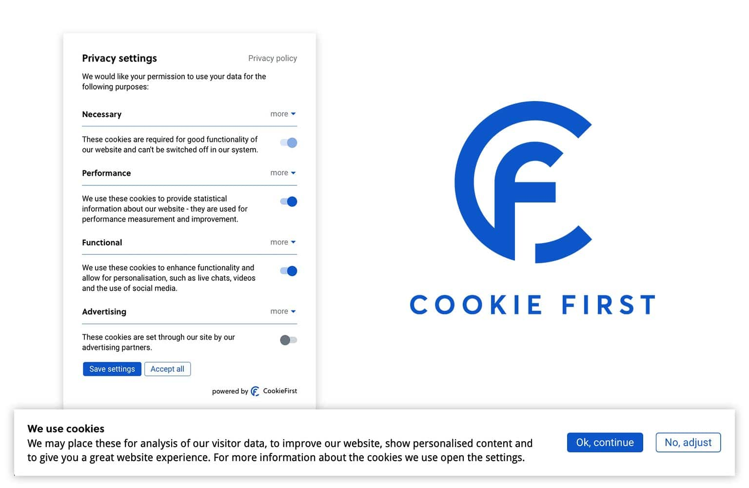 Cookie Consent LGPD - CookieFirst é uma solução completa de consentimento de cookies para estar em conformidade com o LGPD.