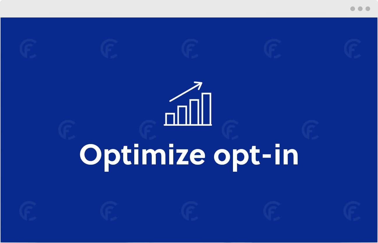 CookieFirst offre una funzione che con è possibile ottimizzare i tassi di opt-in per scopi di marketing