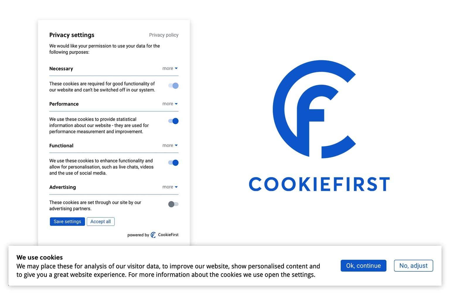 Cookie notice - CookieFirst fournit un consentement aux cookies conforme à ePrivacy, RGPD, CCPA et LGPD